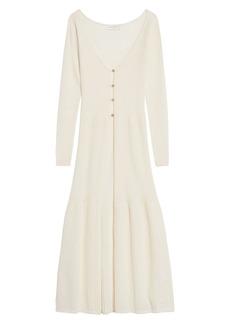 sandro Long Cotton & Wool Blend Cardigan