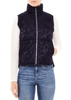 Sandro Lowna Lace Puffer Vest