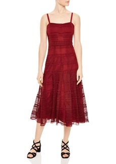 Sandro Mado Lace Midi Dress