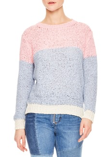 sandro Malabar Colorblock Knit Sweater