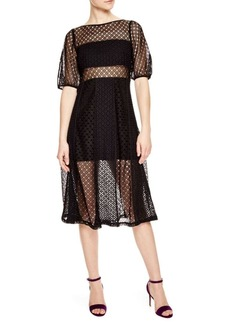 Sandro Malia Semi-Sheer Dress