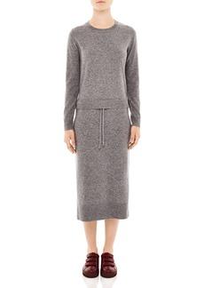 Sandro Marcel Midi Sweater Dress