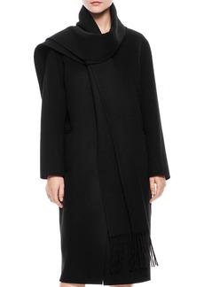 Sandro Maria Scarf Collar Coat