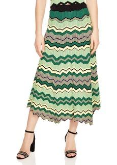 Sandro Mathea Geo-Print Knit Midi Skirt