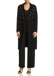 Sandro Mirella Simulated Pearl-Studded Coat - 100% Exclusive