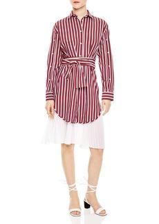 Sandro M�lia Pleated-Hem Shirt Dress