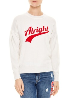 """Sandro Ola Wool & Cashmere """"Alright"""" Graphic Sweater"""