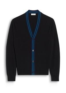 Sandro Outline Fine Knit Wool Cardigan