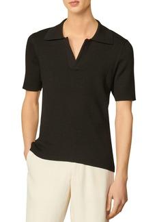 Sandro Paolo Ribbed Polo Shirt