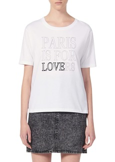 sandro Pary Paris Is For Lovers Graphic Cotton Tee