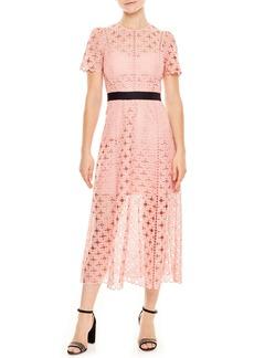 sandro Pivoine Eyelet Lace Dress