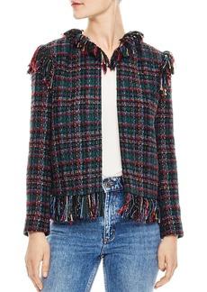 Sandro Pumba Fringed Tweed Jacket