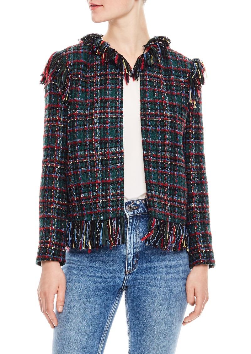 sandro Pumba Plaid Tweed Jacket