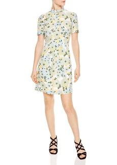 Sandro Rikka Floral Print Silk Dress