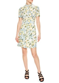 Sandro Rikka Floral Silk Dress
