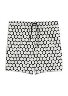 Sandro Rita Dot Print Straight Fit Swim Trunks