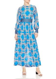 Sandro Roberta Eyelet Lace-Inset Maxi Dress
