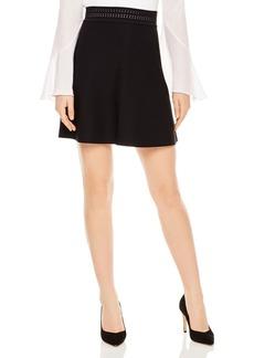 Sandro Ruby Eyelet-Detail A-Line Skirt