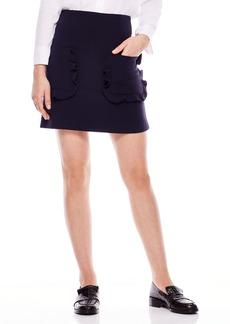 sandro Ruffle Pocket Mini Skirt