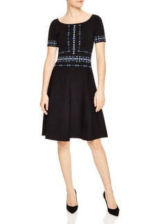 Sandro Safe Scalloped Beaded A-Line Dress