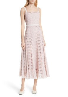 sandro Scallop Lace Midi Dress (Nordstrom Exclusive)