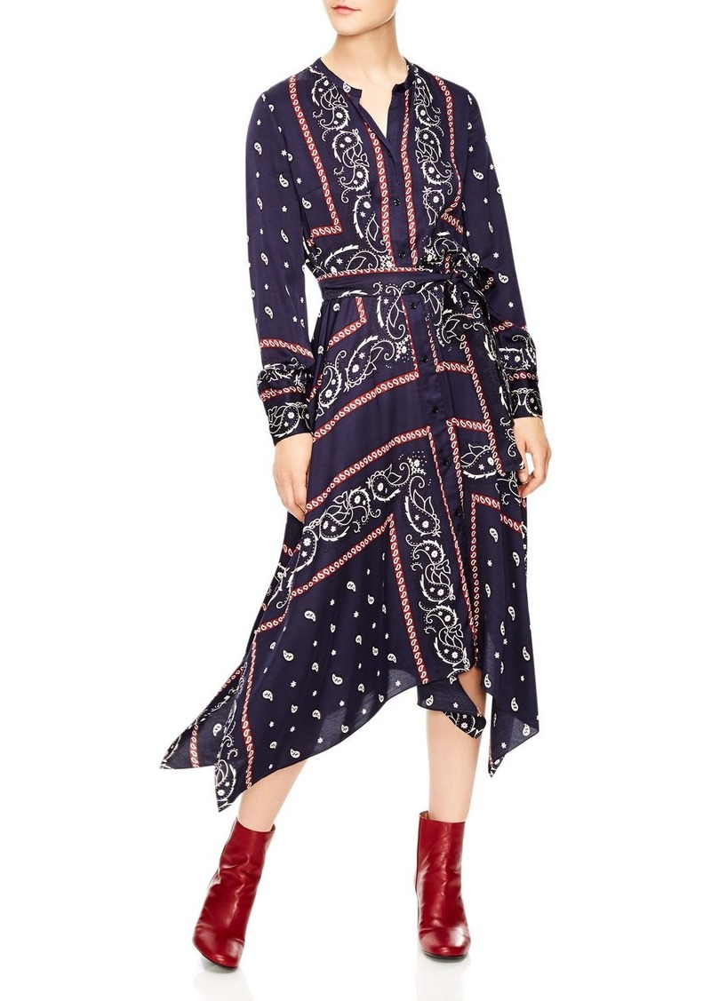 48ee7864a099 Sandro Sandro Science Bandana Print Shirt Dress Now $285.00