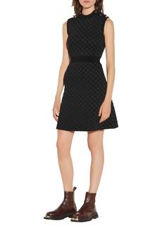 sandro Sleeveless Knit Mini Dress