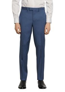 Sandro Slim-Fit Gray & Blue Suit Pants