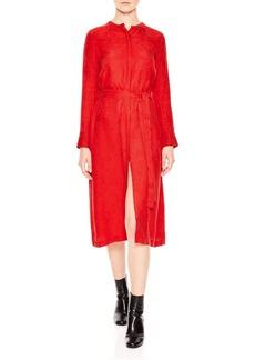 Sandro Sookie Printed Midi Dress