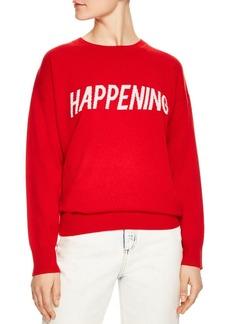 Sandro Sorella Happening Wool & Cashmere Graphic Sweater