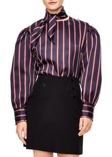 sandro Stripe Blouse