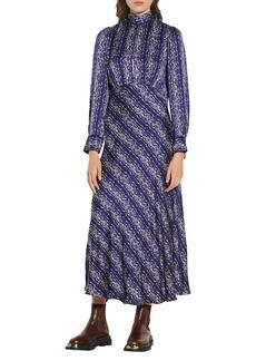 sandro Stripe Long Sleeve Dress