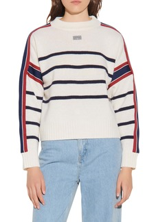 sandro Stripe Wool Blend Sweater
