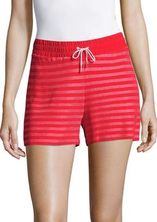 Sandro Striped Drawstring Shorts