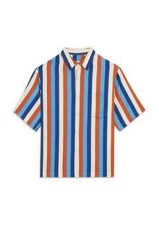 Sandro Striped Short Sleeve Shirt