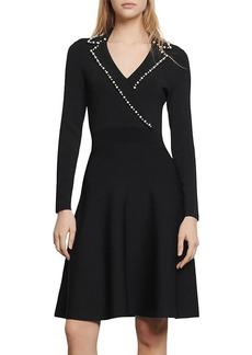 Sandro Suity Embellished A-Line Mini Dress