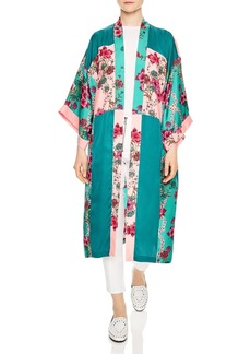 Sandro Ting Printed Color Blocked Kimono Jacket