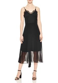 Sandro Trice Lace-Detail Midi Dress