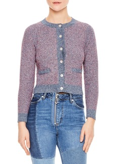 sandro Violet Cotton Blend Cardigan