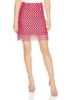Sandro Vivot Geometric Openwork Lace Skirt