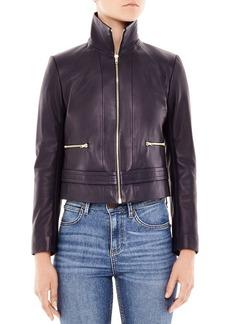 Sandro Wilde Leather Jacket
