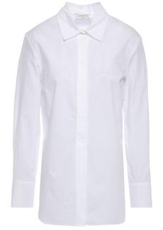 Sandro Woman Adama Cotton-poplin Shirt White