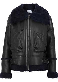 Sandro Woman Amber Shearling Jacket Black