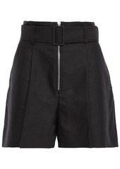 Sandro Woman Gesse Belted Cotton-blend Twill Shorts Black