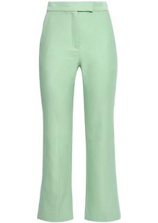 Sandro Woman Cotton-blend Kick-flare Pants Mint