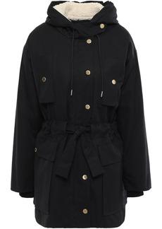 Sandro Woman Cotton Hooded Coat Black