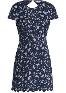 Sandro Woman Cutout Guipure Lace Mini Dress Navy
