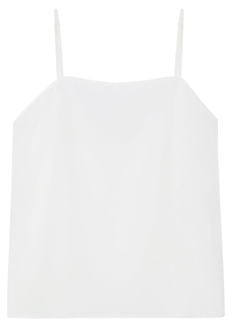Sandro Woman En-plus Crepe De Chine Camisole White