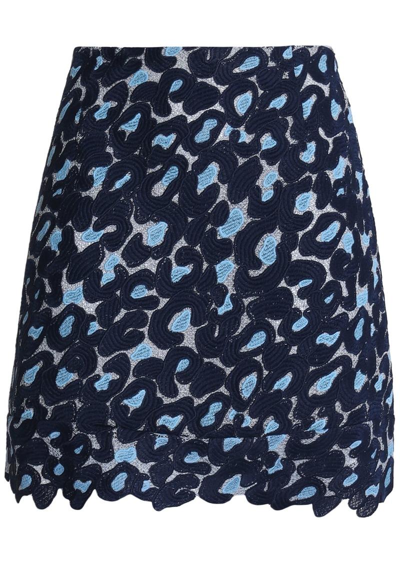 Sandro Woman Guipure Lace Mini Skirt Navy