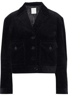 Sandro Woman Ismael Cropped Corduroy Jacket Black